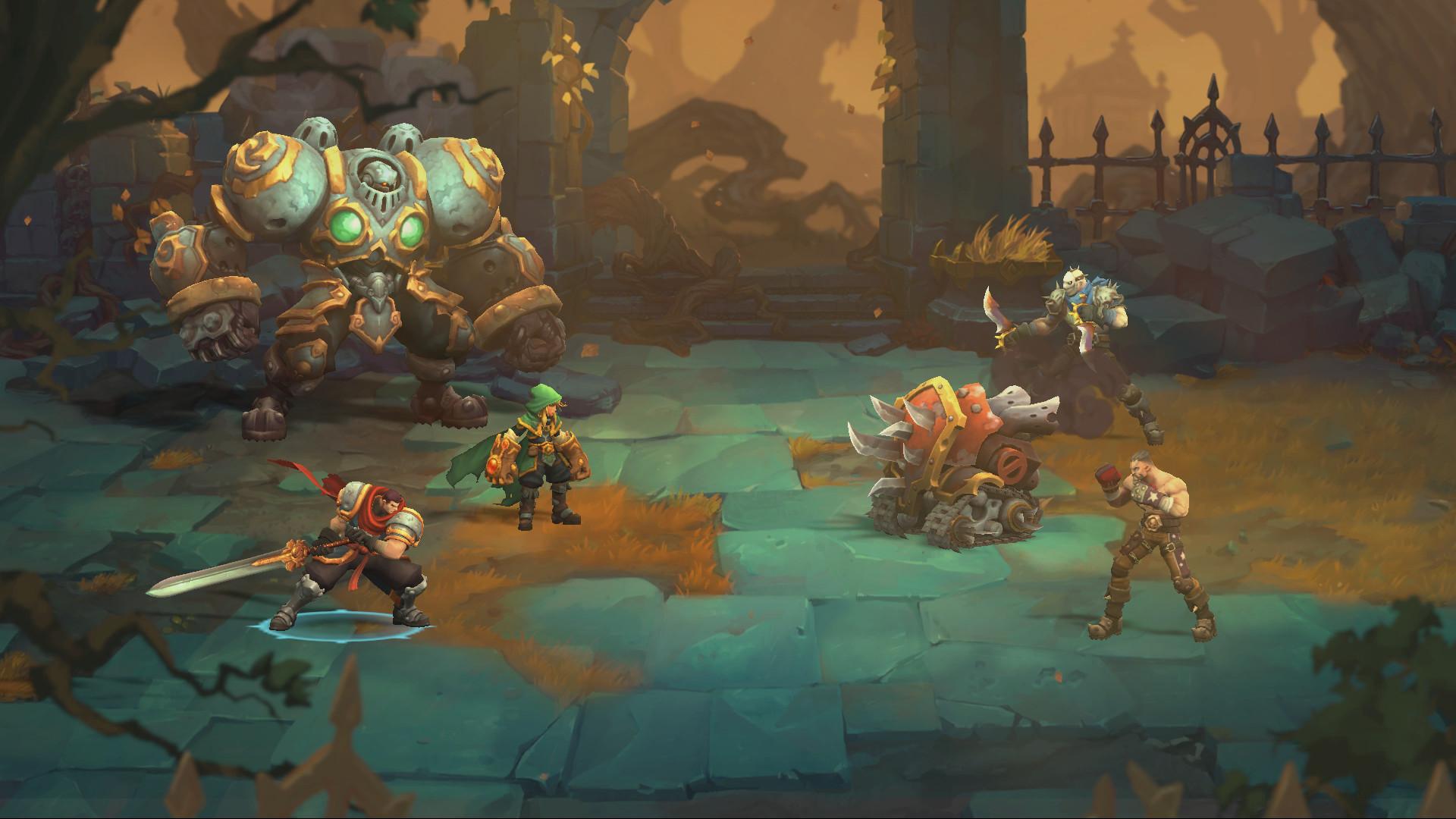 战神:夜袭 Battle Chasers:Nightwar Mac 破解版 回合制战斗的角色扮演游戏