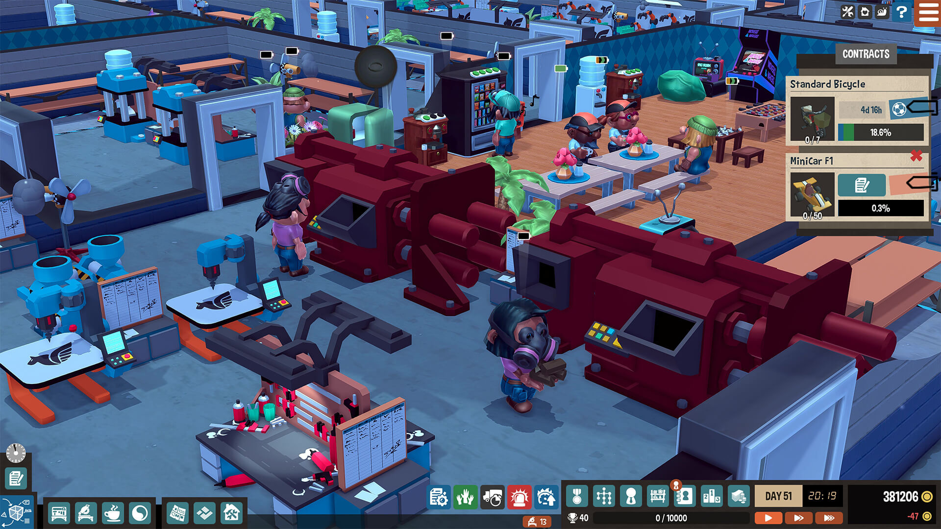 小小大工坊 Little Big Workshop Mac 破解版 乐高风格的模拟经营游戏